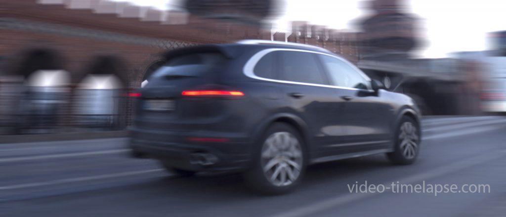 Zeitraffervideo von Transport- und Logistikdienstleistungen
